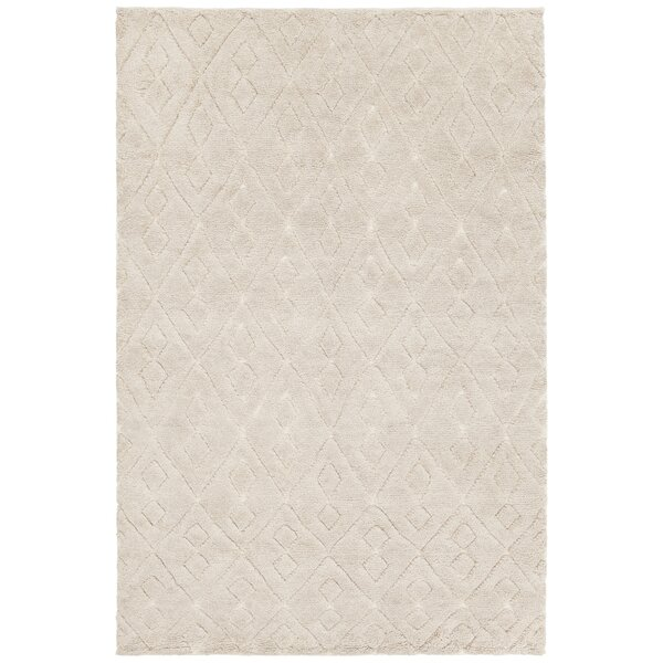 Alland Hand-Knotted Cream Area Rug by Foundry Select