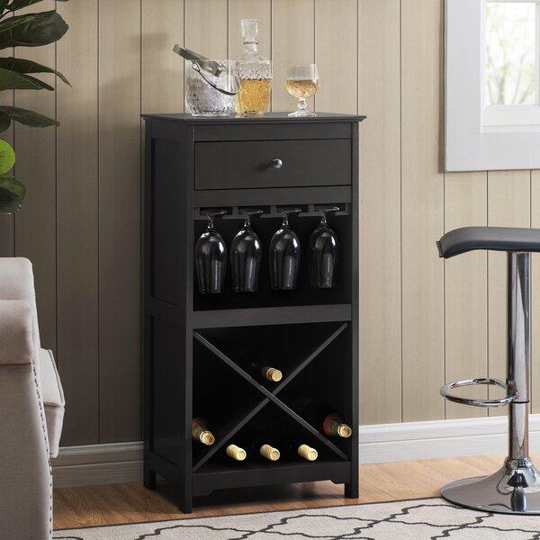 Moll 20 Bottle Floor Wine Bottle And Glass Rack By Ebern Designs