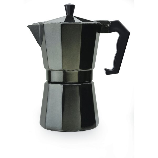 Stove Top Aluminum 6-Cup Espresso Maker by Primula