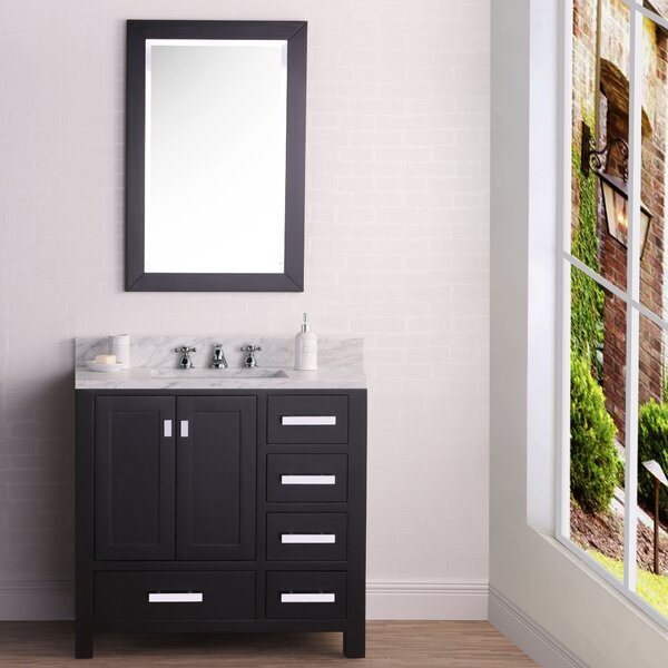 Clay 36 Single Bathroom Vanity Set with Mirror by Ebern DesignsClay 36 Single Bathroom Vanity Set with Mirror by Ebern Designs