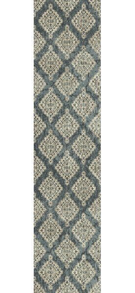 Morocco Blue/Ivory Area Rug by Charlton Home
