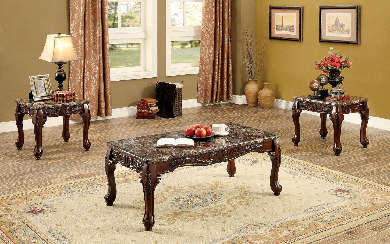 Astoria Grand Doory 3 Piece Coffee Table Set & Reviews | Wayfair