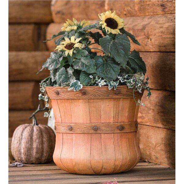 Faux Wood Bushel Basket Planter Box by Plow & Hearth