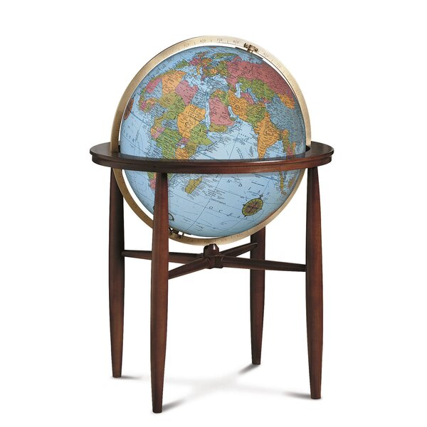 Finley Blue Illuminated World Globe by Replogle Globes