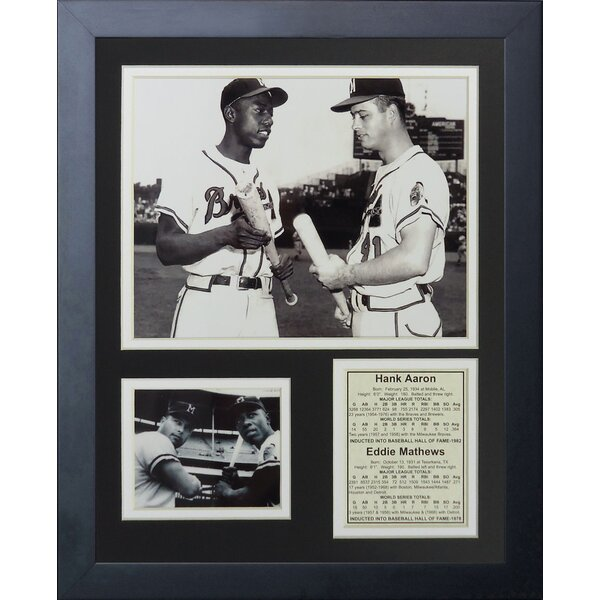 Hank Aaron & Eddie Mathews Framed Photographic Print by Legends Never Die