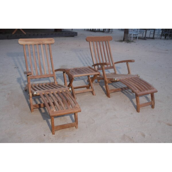 Royal 3 Piece Steamer Arm Chair Set by Anderson Teak