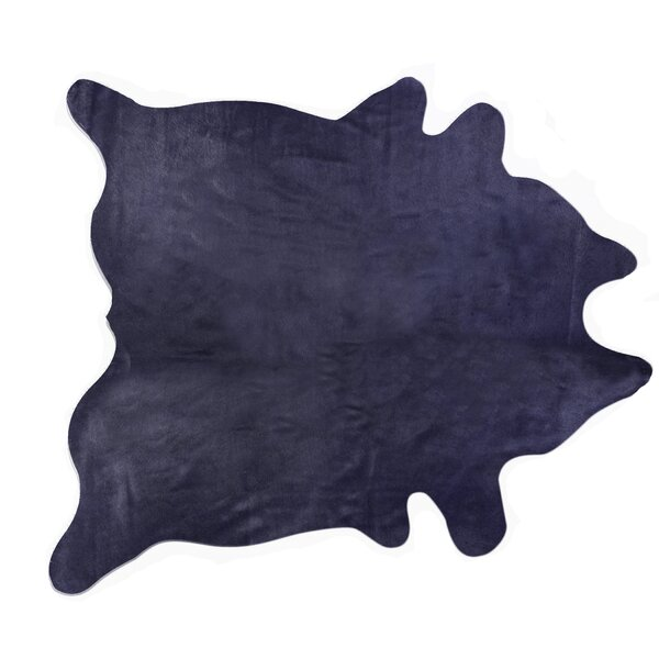Rondon Hand Woven Cowhide Navy Area Rug by Latitude Run