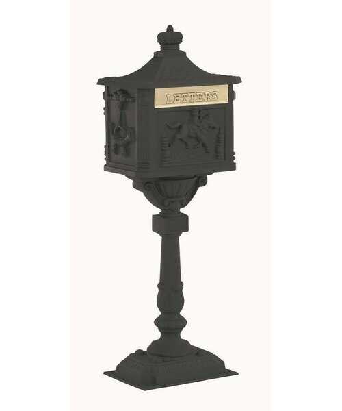Locking Mailbox with Post Included by Amco Mailboxes