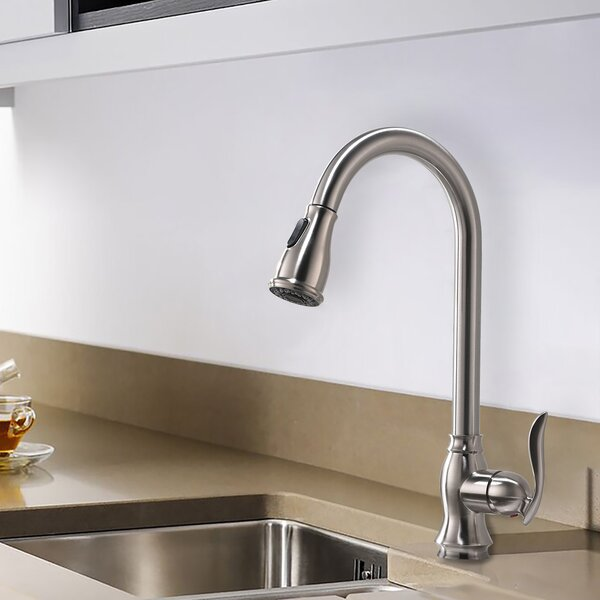 Pull Out Single Handle Kitchen Faucet By Watqen