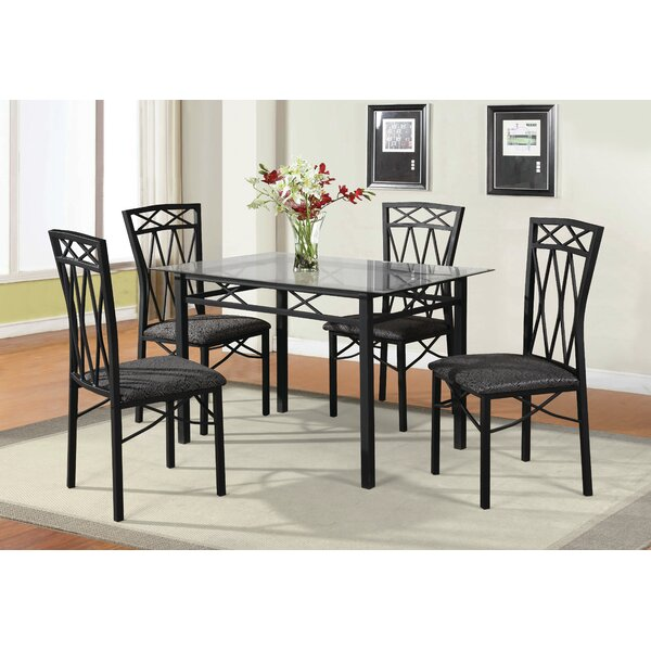 Nessler 5 Piece Dining Set by Ebern Designs
