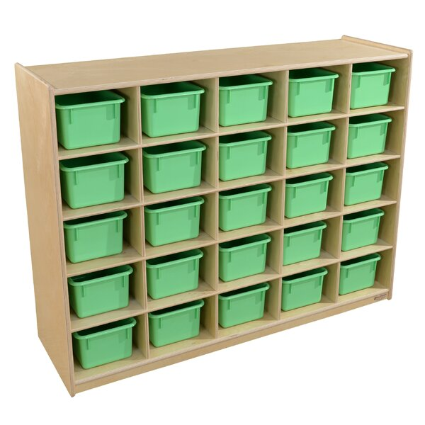 25 Compartment Cubby with Trays by Wood Designs