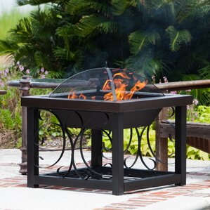 cocktail steel wood burning fire pit