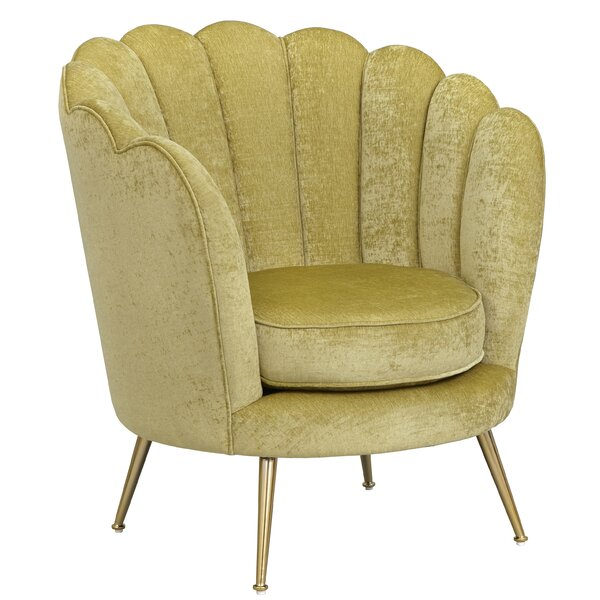 Carrigan Scalloped Back Accent Barrel Chair by Mercer41