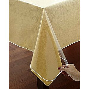 Bath Spill Safe Super Protector Oblong Clear Tablecloth