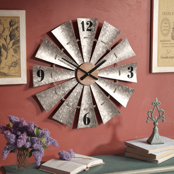 Oversized Windmill 28.5 Wall Clock by Gracie Oaks