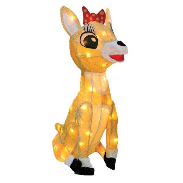 Rudolph the Red Nosed Reindeer Clarice Christmas Decoration with Lights by Product Works
