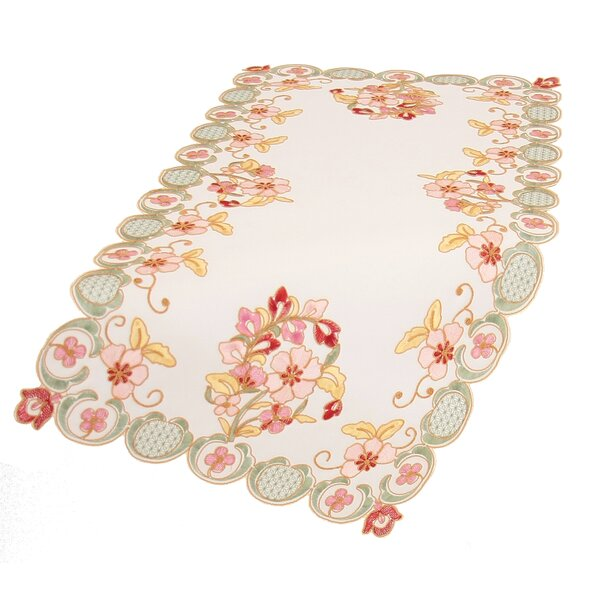 Primrose Embroidered Cutwork Table Runner (Set of 4) by Manor Luxe