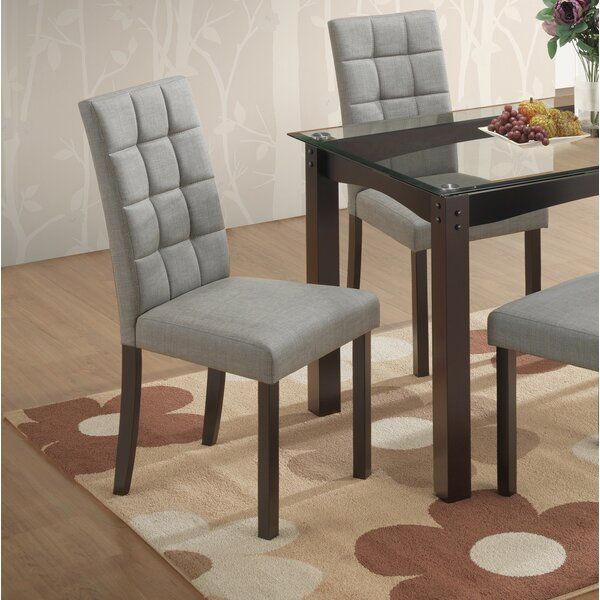 Bisbee Upholstered Dining Chair in Gray by Ebern Designs Ebern Designs