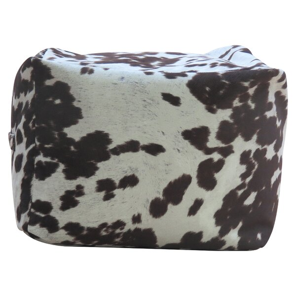 Rolf Cowhide Pouf by Williston Forge