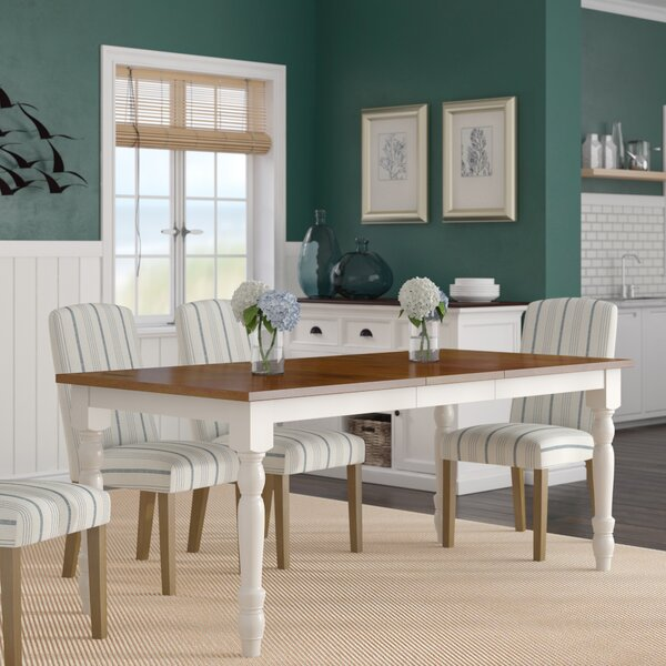 Hodslavice Solid Wood Turned Leg Extendable Dining Table By Bay Isle Home.