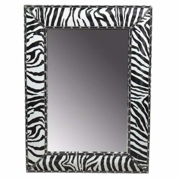 Crossland Enchantingly Striped Wooden Accent Mirror by World Menagerie