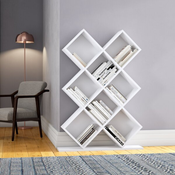 Burkart Geometric Bookcase By Ivy Bronx
