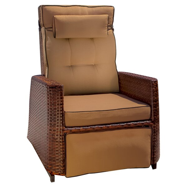 Charla Patio Chair with Cushion by Beachcrest Home