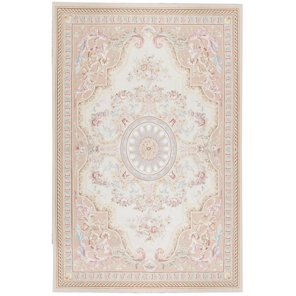 One-of-a-Kind Renaissance Hand-Knotted Beige 10'10 x 16'2 Wool Area Rug