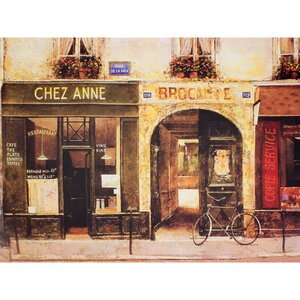 'Parisian Cafe' Painting Print on Wrapped Canvas by Oriental Furniture