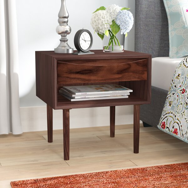Lutjens 1 Drawer Nightstand by Latitude Run