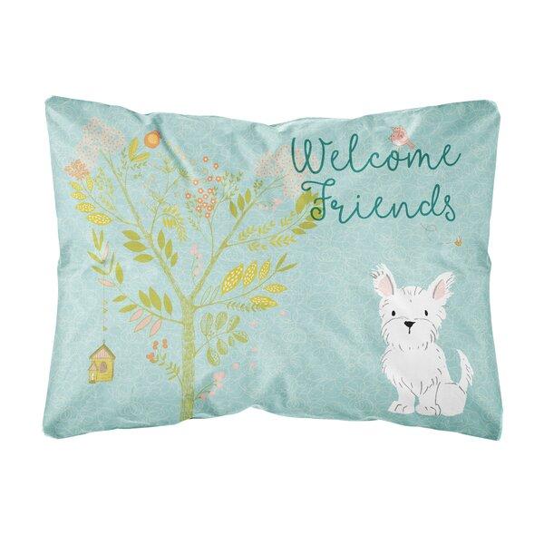 Scanlan Welcome Friends Westie Indoor/Outdoor Throw Pillow by Winston Porter