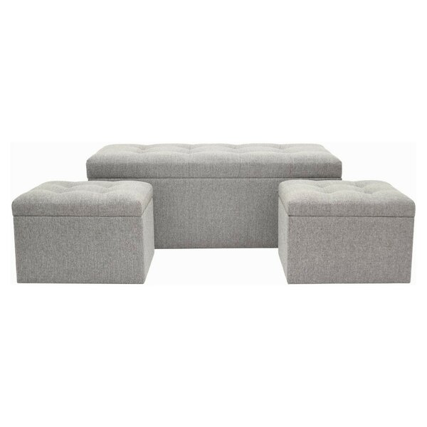 Fason Upholstered Storage Bench and Ottoman (Set of 3) by Darby Home Co