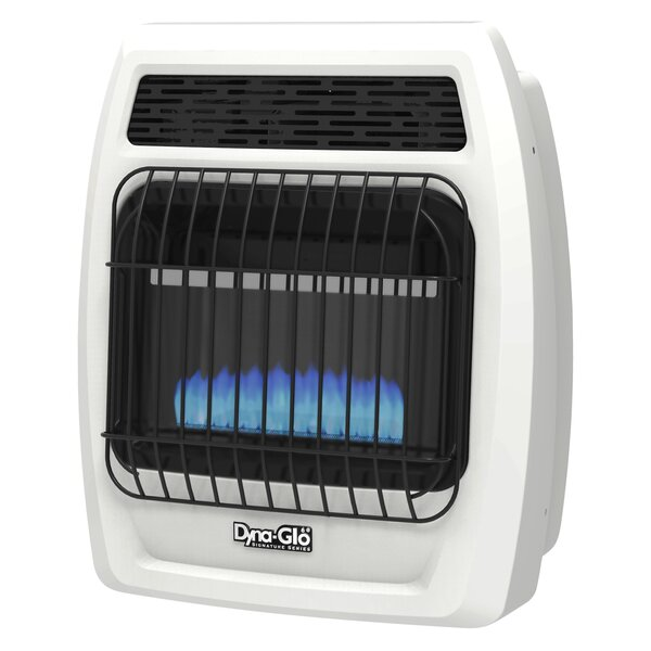 Flame Vent-Free Thermostatic 10,000 BTU Propane Convection Wall Mounted Heater by Dyna-Glo