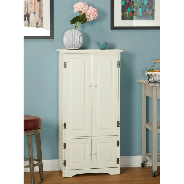Tall Pine China Cabinet in Weathered White Finish by TMS