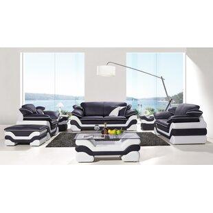 Nan 7 Piece Leather Living Room Set by Orren Ellis