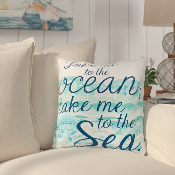 Brecht Take Me to the Ocean Throw Pillow by Highland Dunes