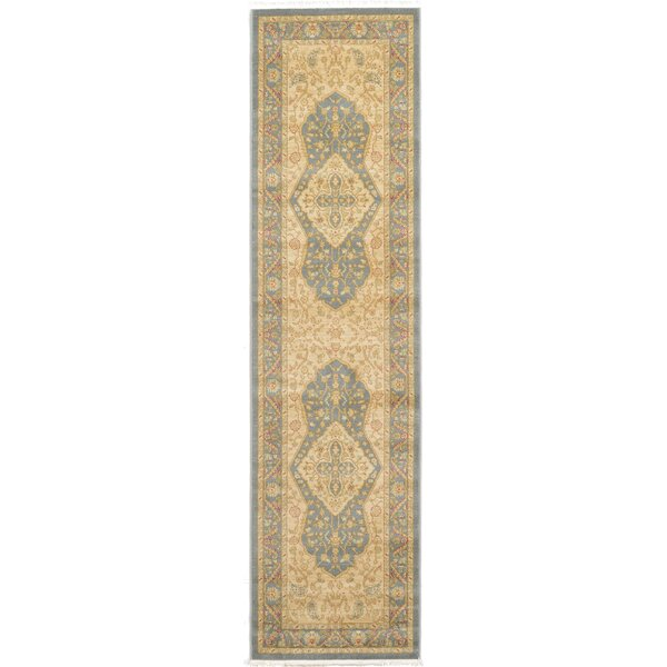 Britley Blue/Cream Area Rug by World Menagerie