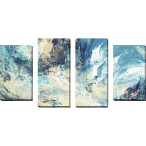 Feeling 4 Piece Painting Print on Wrapped Canvas Set by Picture Perfect International