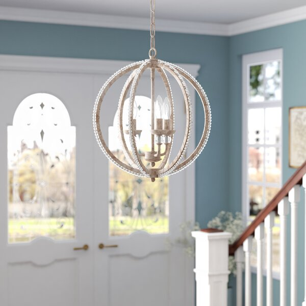Clarice 3-Light LED Globe Chandelier by Willa Arlo