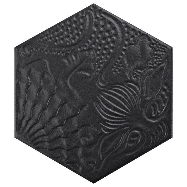 Soprano 8.62 x 9.87 Porcelain Field Tile in Black by EliteTile