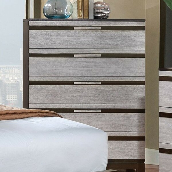Padawe Wooden 5 Drawer Chest by Latitude Run