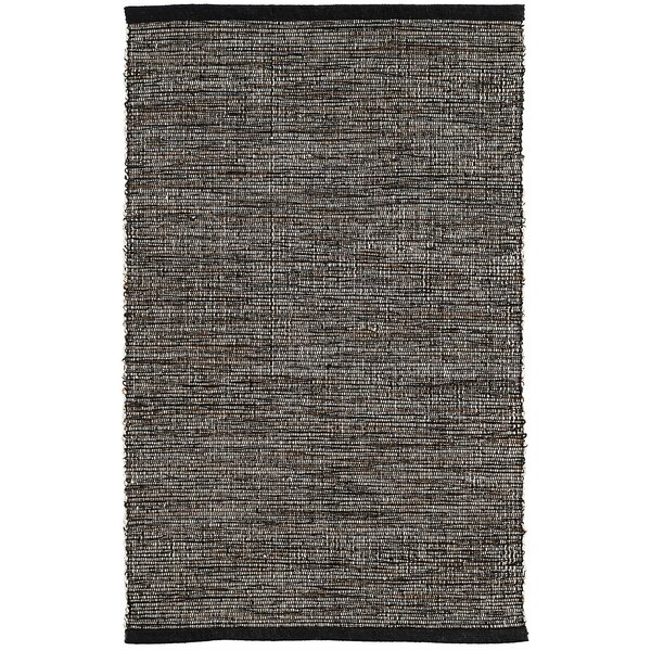 Grant Hand-Woven Black Area Rug by Dash and Albert Rugs