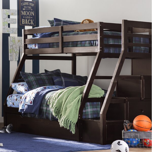 Reece Twin Over Full Bunk Bed With Trundle And Drawers By Viv + Rae by Viv + Rae Great Reviews