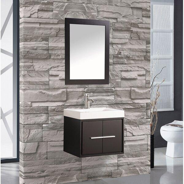 Peirce 30 Single Floating Bathroom Vanity Set with Mirror by Orren Ellis