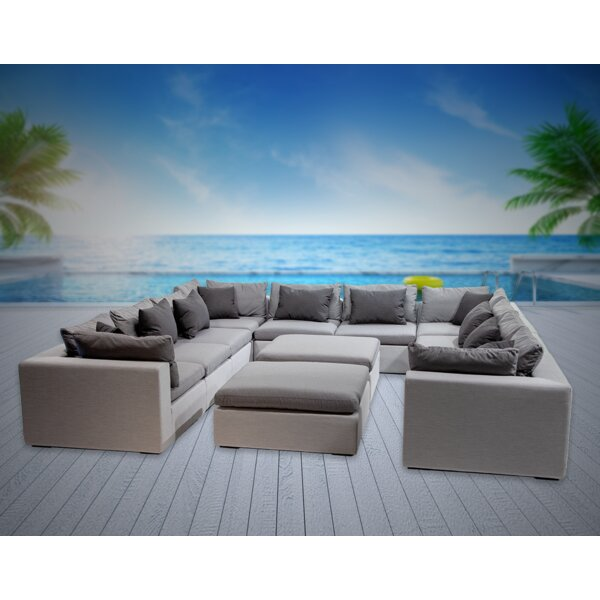 Malani 12 Piece Sunbrella Sectional Seating Group with Cushions by Brayden Studio