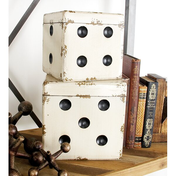 Dice 2 Piece Decorative Box Set by Cole & Grey