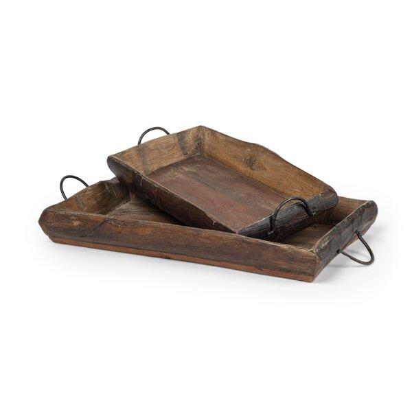 Rouillard 2 Piece Ottoman Tray Set by Millwood Pines