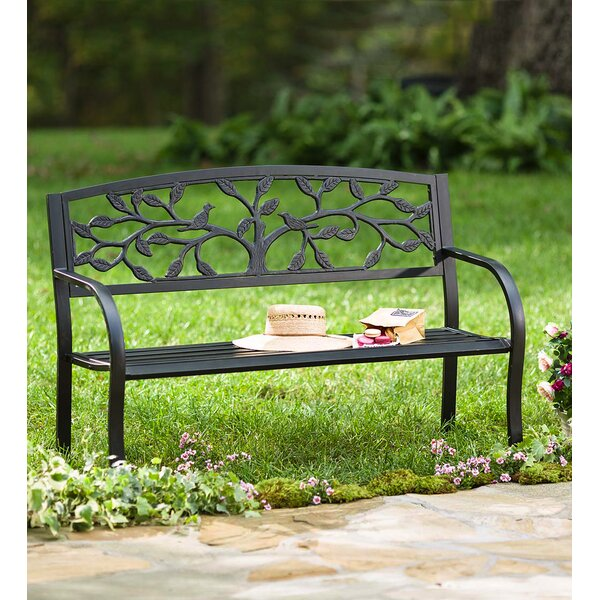 Marissa Tree of Life Aluminum Garden Bench by Rosalind Wheeler