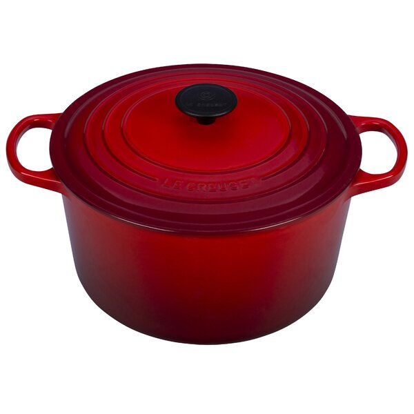 Enameled Cast Iron 5.25 Qt. Deep Round Dutch Oven by Le Creuset