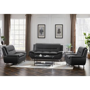 Fardell 2 Piece Faux Leather Living Room Set by Wrought Studio™